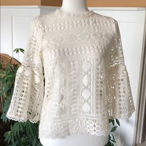 NWT  Gorgeous Ellison Crochet Top . Size medium